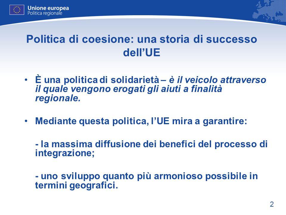 Politica di coesione: una storia di successo dell'UE
