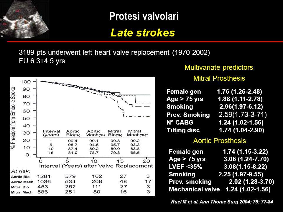Protesi valvolari Late strokes