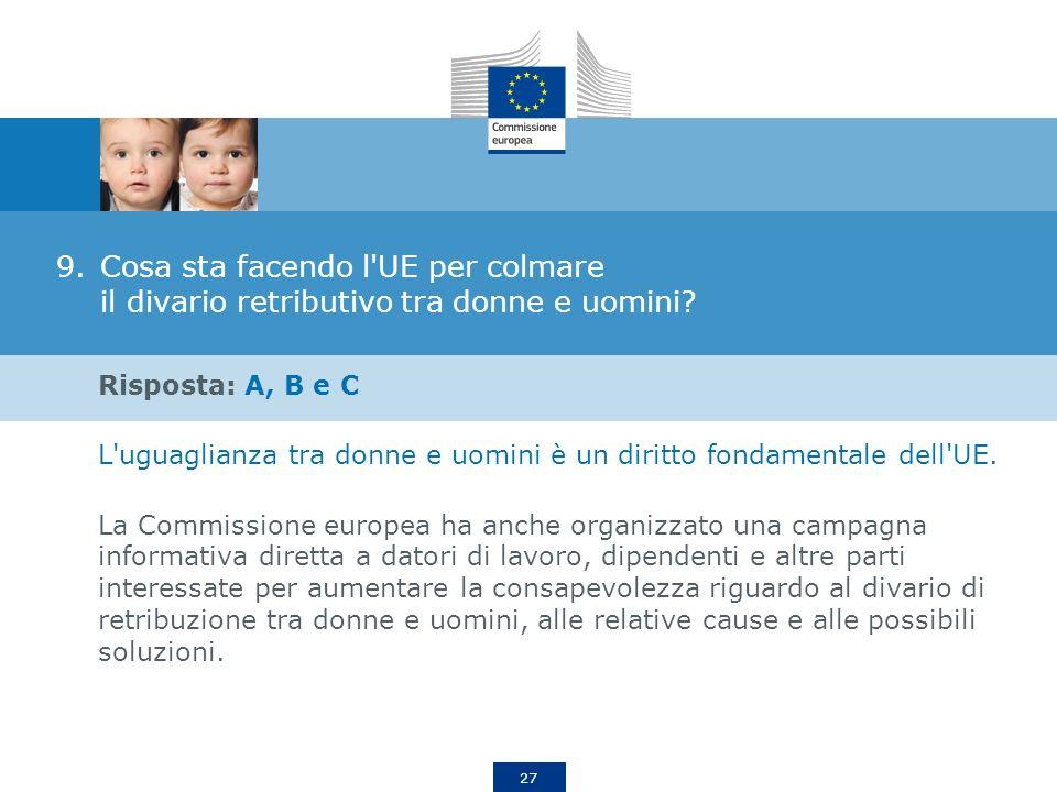 Cosa sta facendo l UE per colmare il divario retributivo tra donne e uomini