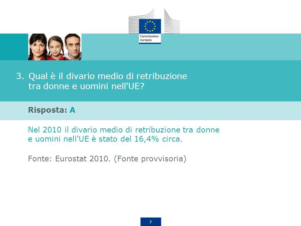 Qual è il divario medio di retribuzione tra donne e uomini nell UE