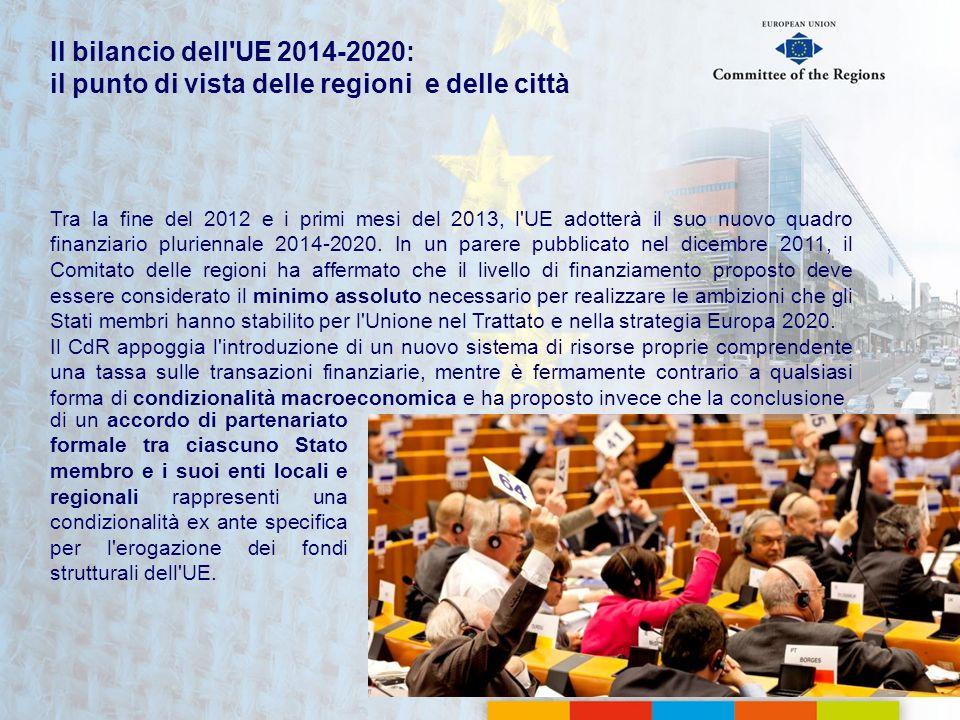 Il bilancio dell UE 2014-2020: il punto di vista delle regioni e delle città
