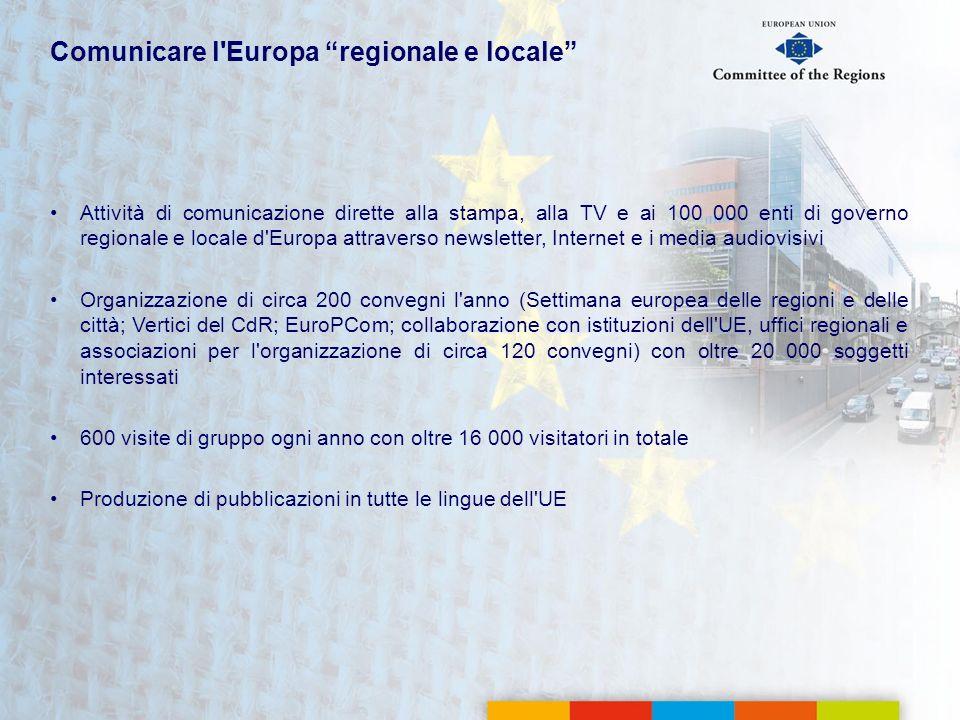 Comunicare l Europa regionale e locale