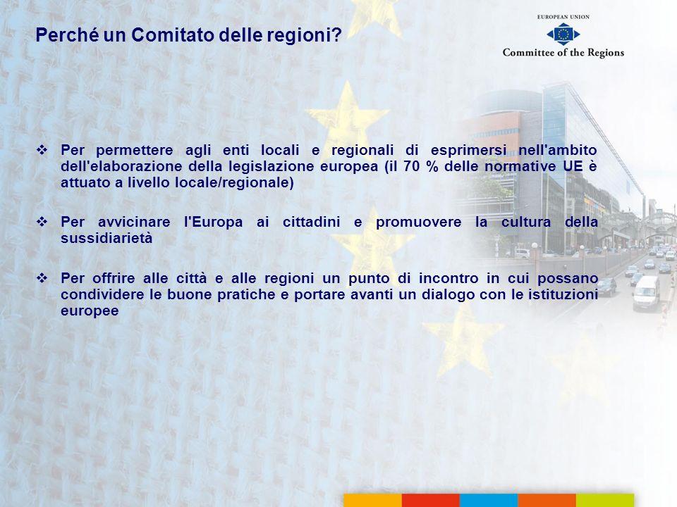 Perché un Comitato delle regioni