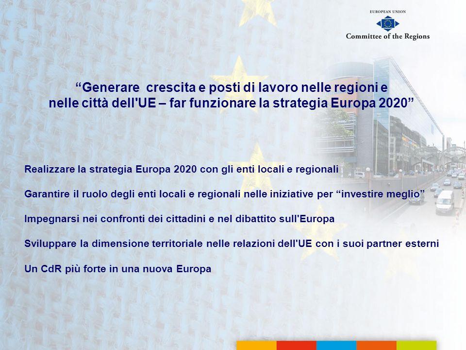 Generare crescita e posti di lavoro nelle regioni e