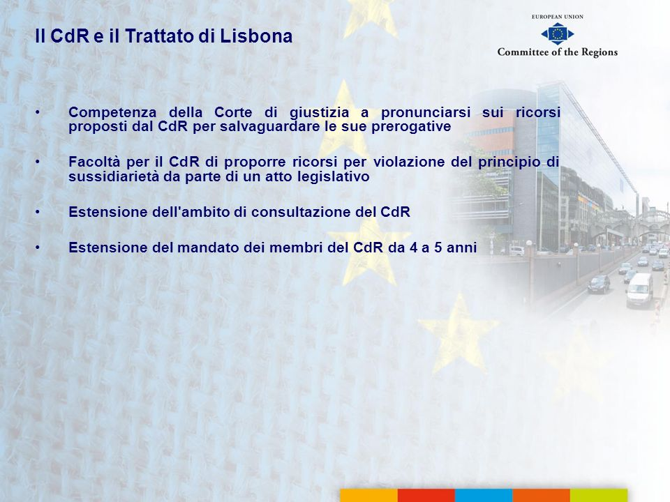 Il CdR e il Trattato di Lisbona
