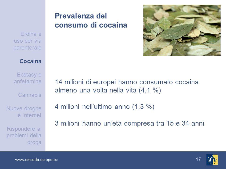 Prevalenza del consumo di cocaina
