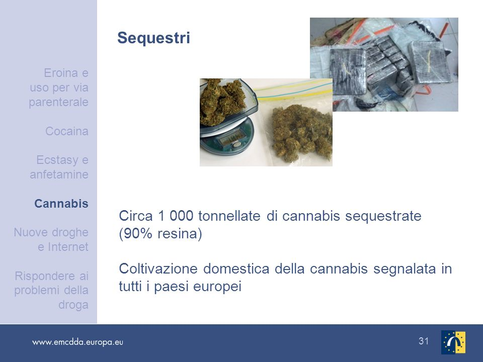 Sequestri Circa 1 000 tonnellate di cannabis sequestrate (90% resina)
