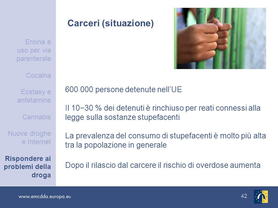 Carceri (situazione) 600 000 persone detenute nell'UE
