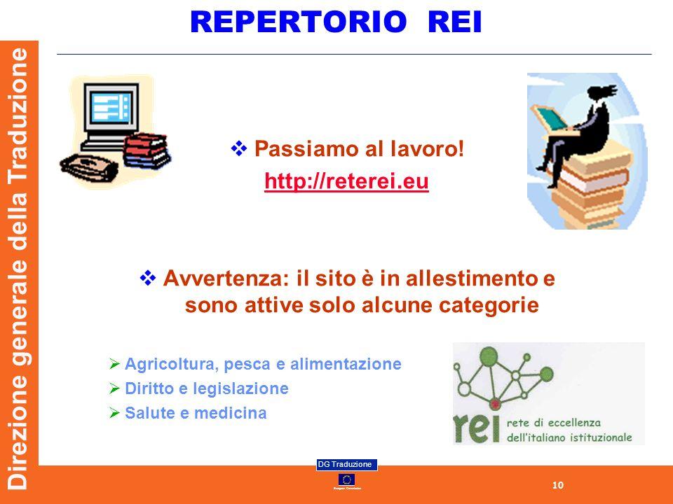 REPERTORIO REI Passiamo al lavoro! http://reterei.eu