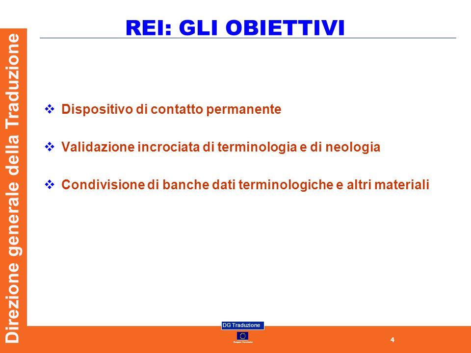 REI: GLI OBIETTIVI Dispositivo di contatto permanente