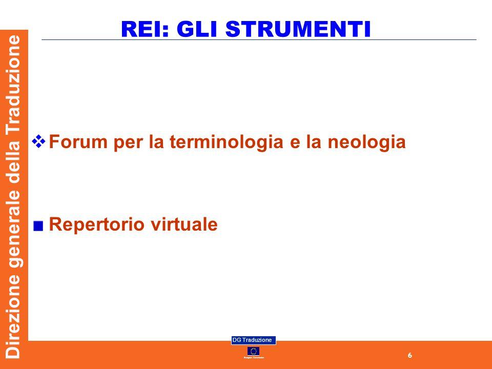 REI: GLI STRUMENTI Forum per la terminologia e la neologia