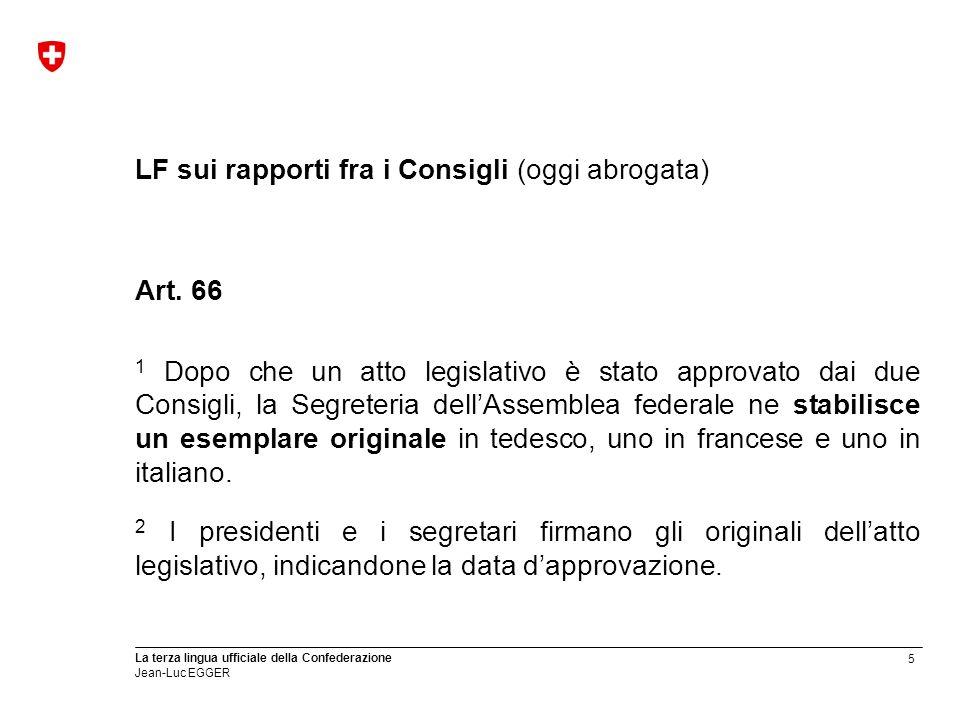 LF sui rapporti fra i Consigli (oggi abrogata)
