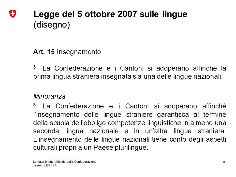 Legge del 5 ottobre 2007 sulle lingue (disegno)
