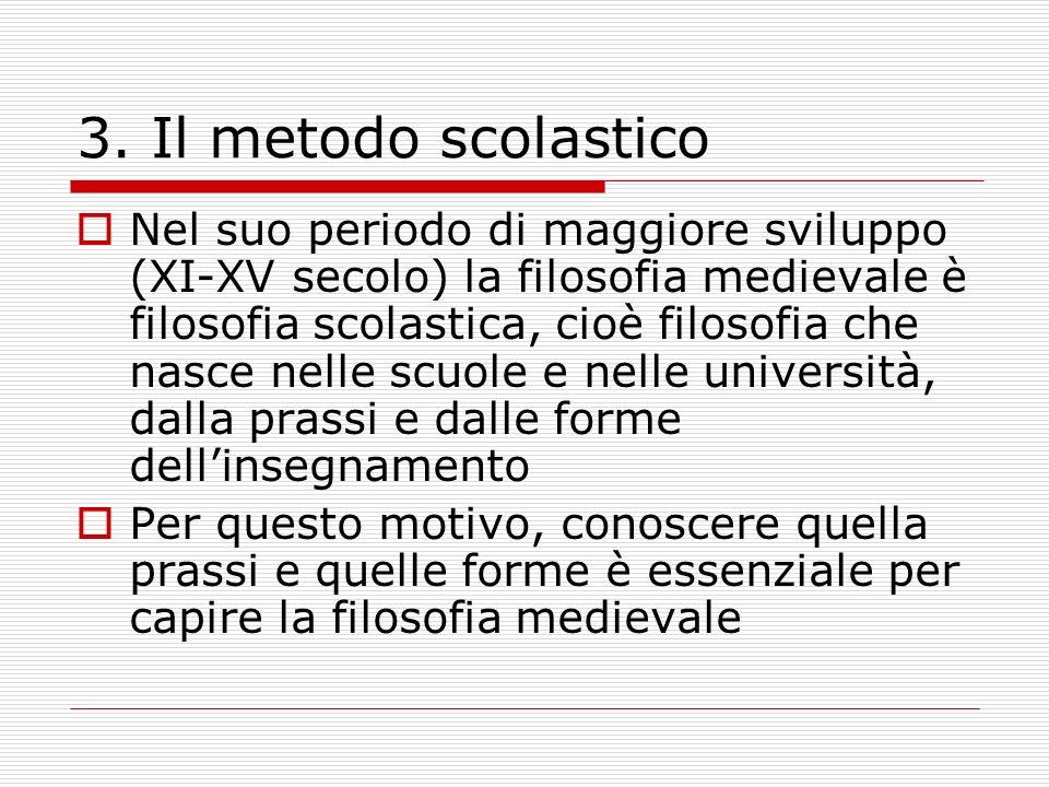 3. Il metodo scolastico