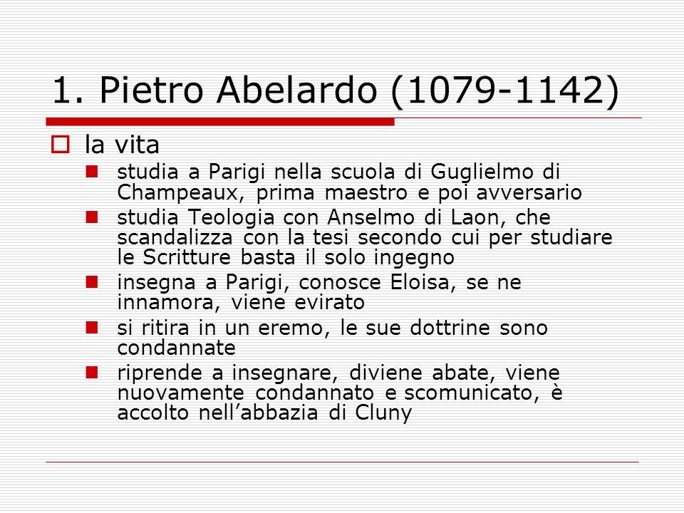 1. Pietro Abelardo (1079-1142) la vita
