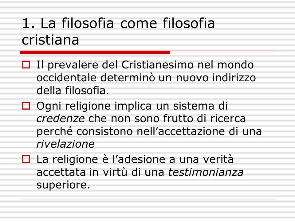 1. La filosofia come filosofia cristiana