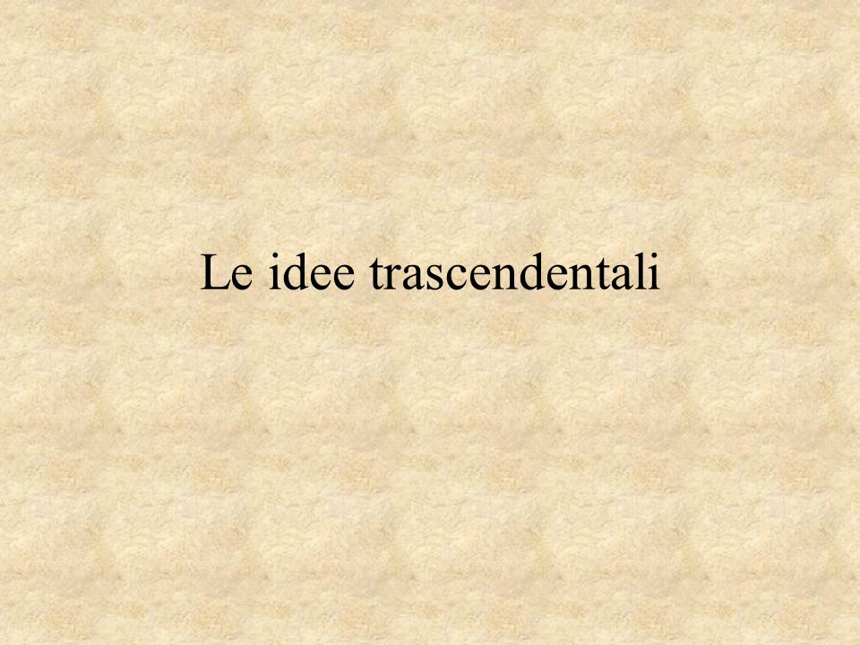 Le idee trascendentali