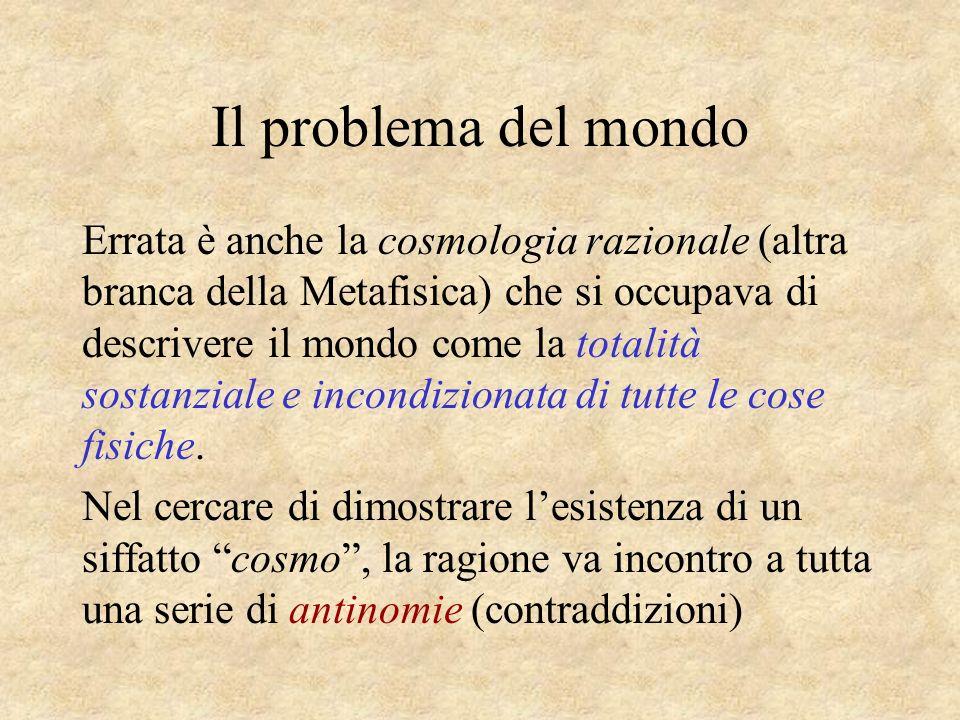 Il problema del mondo