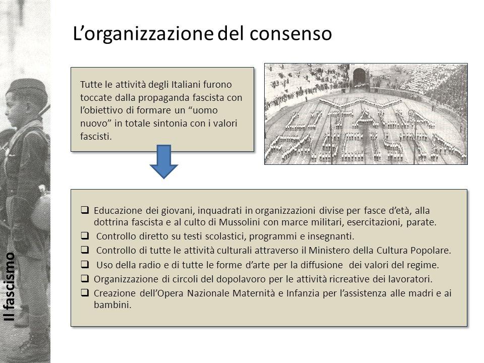 L'organizzazione del consenso