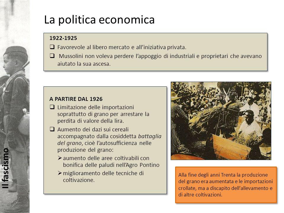 La politica economica 1922-1925
