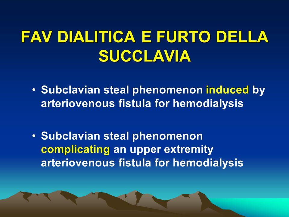 FAV DIALITICA E FURTO DELLA SUCCLAVIA