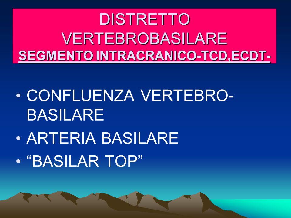 DISTRETTO VERTEBROBASILARE SEGMENTO INTRACRANICO-TCD,ECDT-