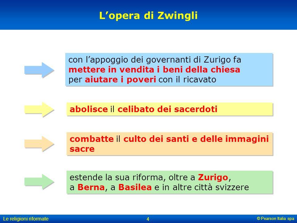 L'opera di Zwingli con l'appoggio dei governanti di Zurigo fa mettere in vendita i beni della chiesa per aiutare i poveri con il ricavato.