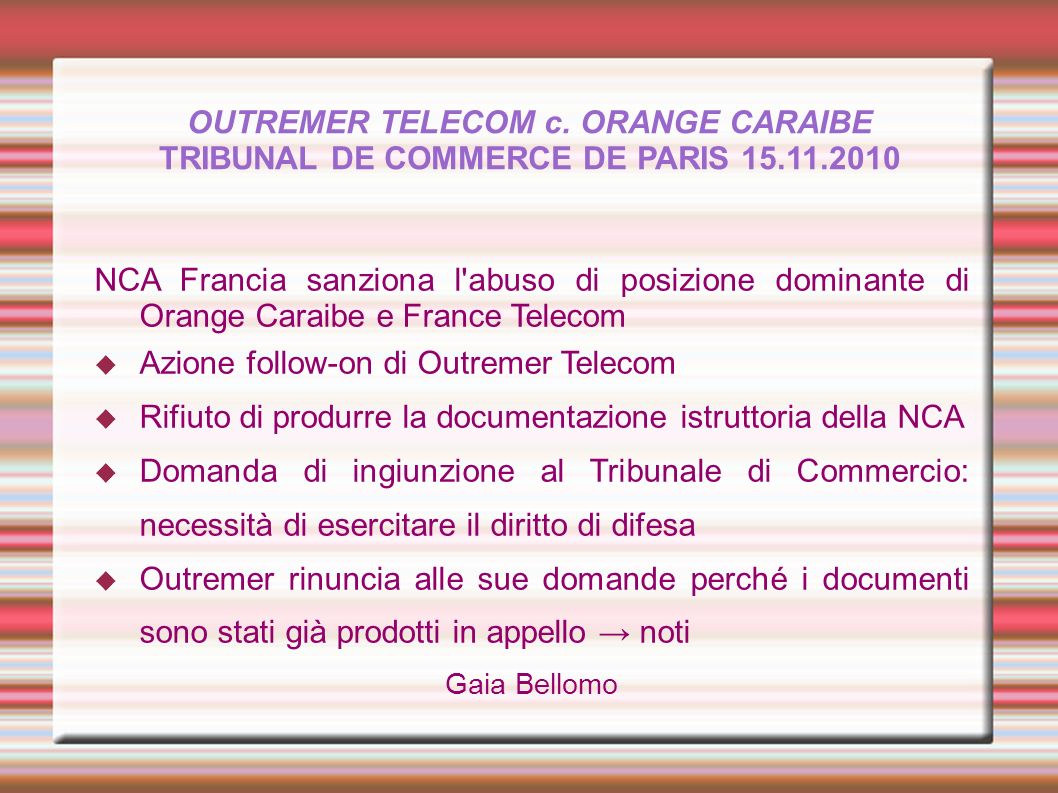 Azione follow-on di Outremer Telecom