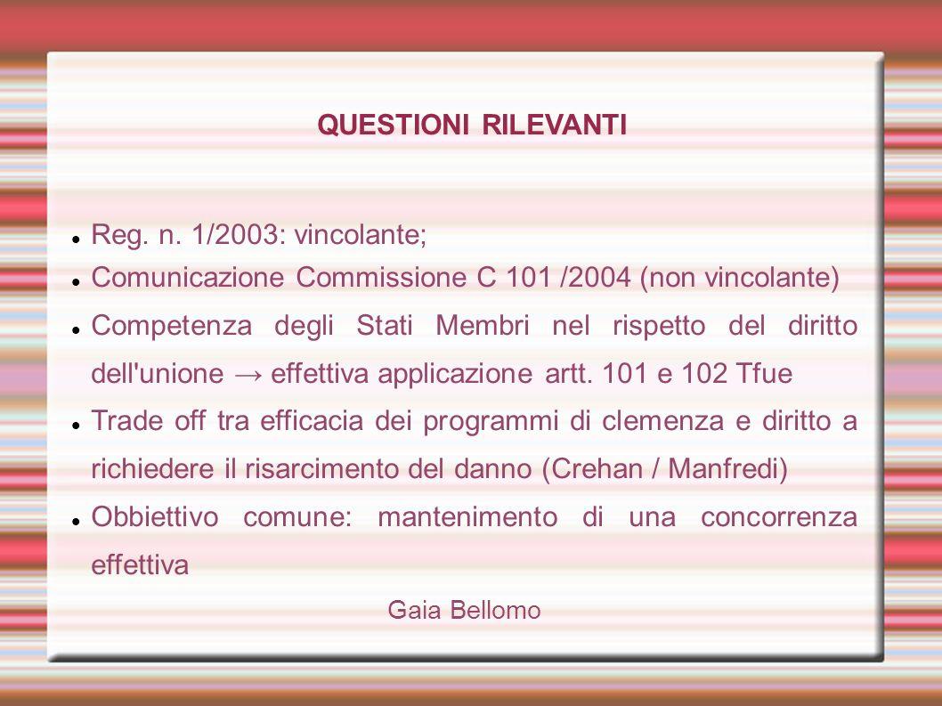 Comunicazione Commissione C 101 /2004 (non vincolante)