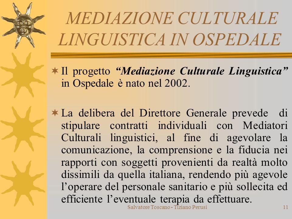 MEDIAZIONE CULTURALE LINGUISTICA IN OSPEDALE