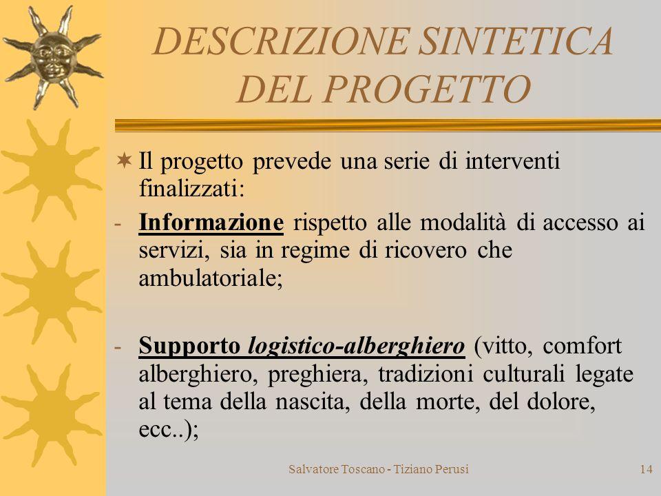 DESCRIZIONE SINTETICA DEL PROGETTO