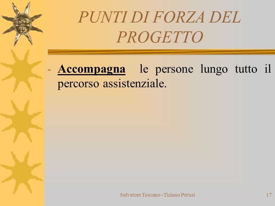 PUNTI DI FORZA DEL PROGETTO