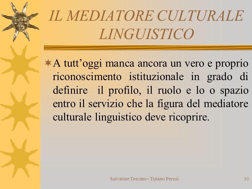 IL MEDIATORE CULTURALE LINGUISTICO