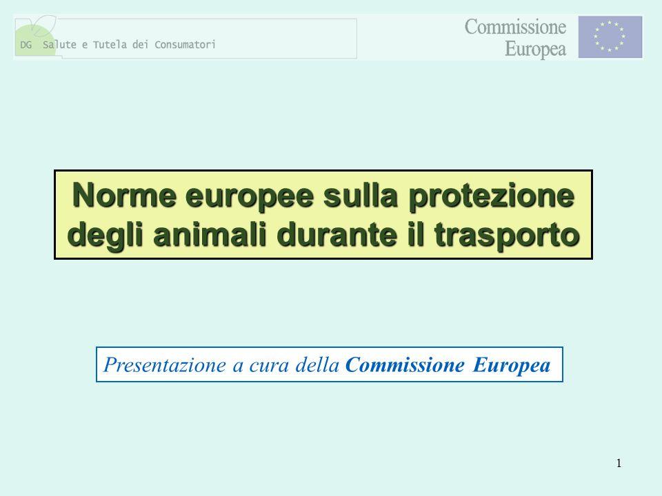 Norme europee sulla protezione degli animali durante il trasporto