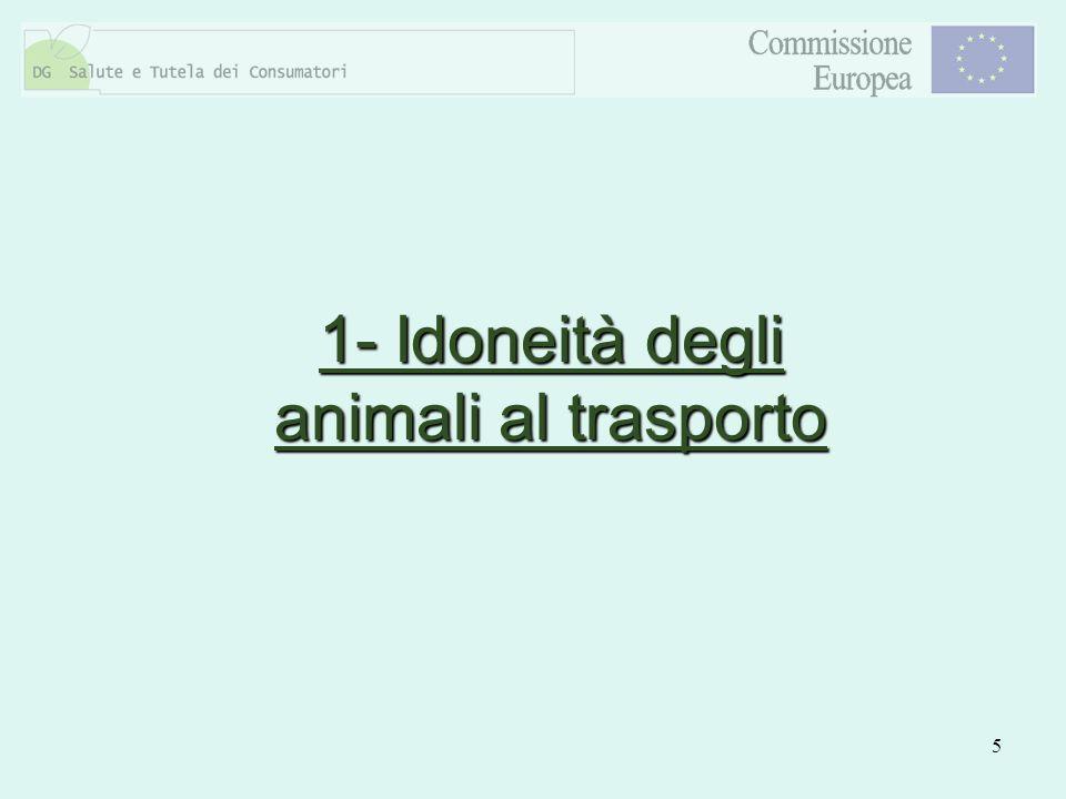 1- Idoneità degli animali al trasporto