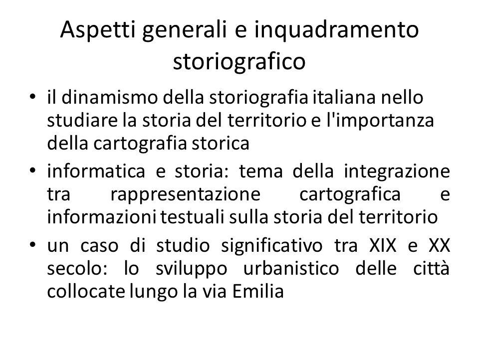 Aspetti generali e inquadramento storiografico