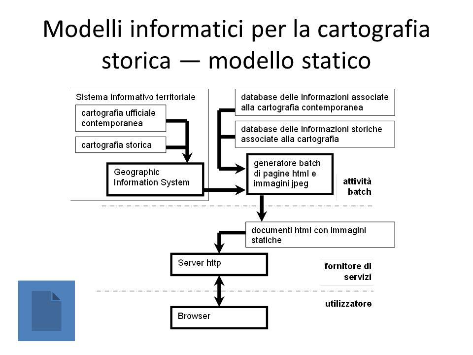Modelli informatici per la cartografia storica — modello statico