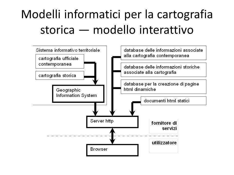 Modelli informatici per la cartografia storica — modello interattivo