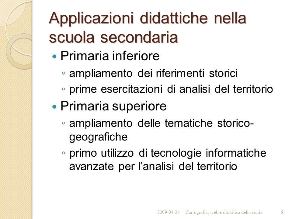 Applicazioni didattiche nella scuola secondaria