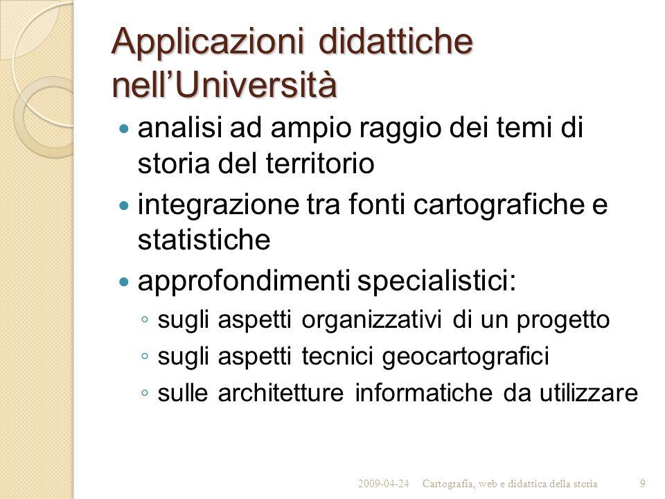 Applicazioni didattiche nell'Università