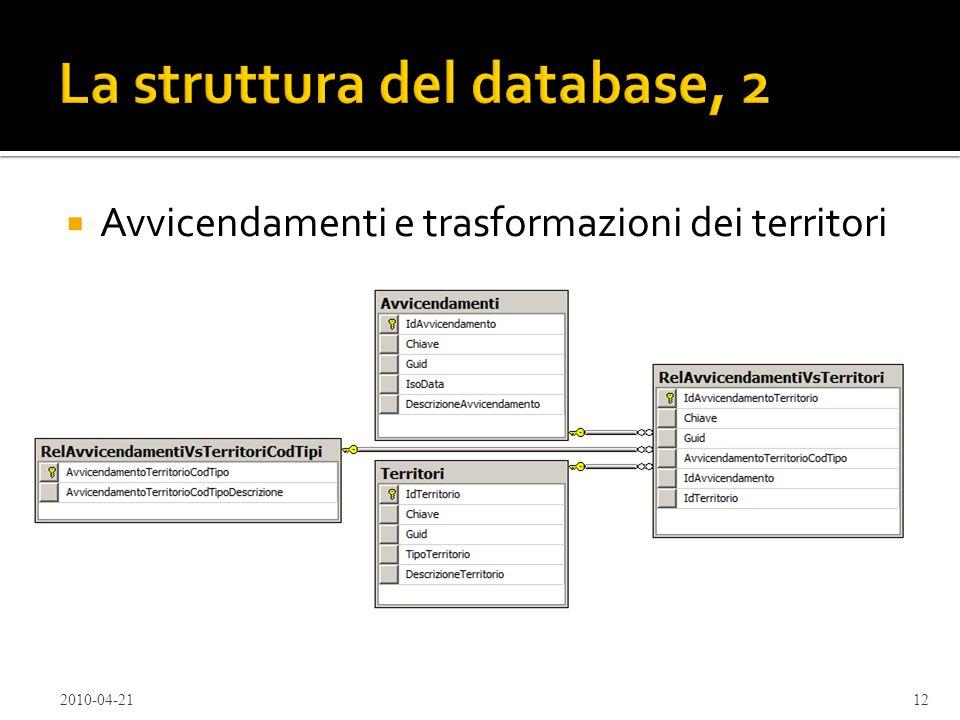 La struttura del database, 2