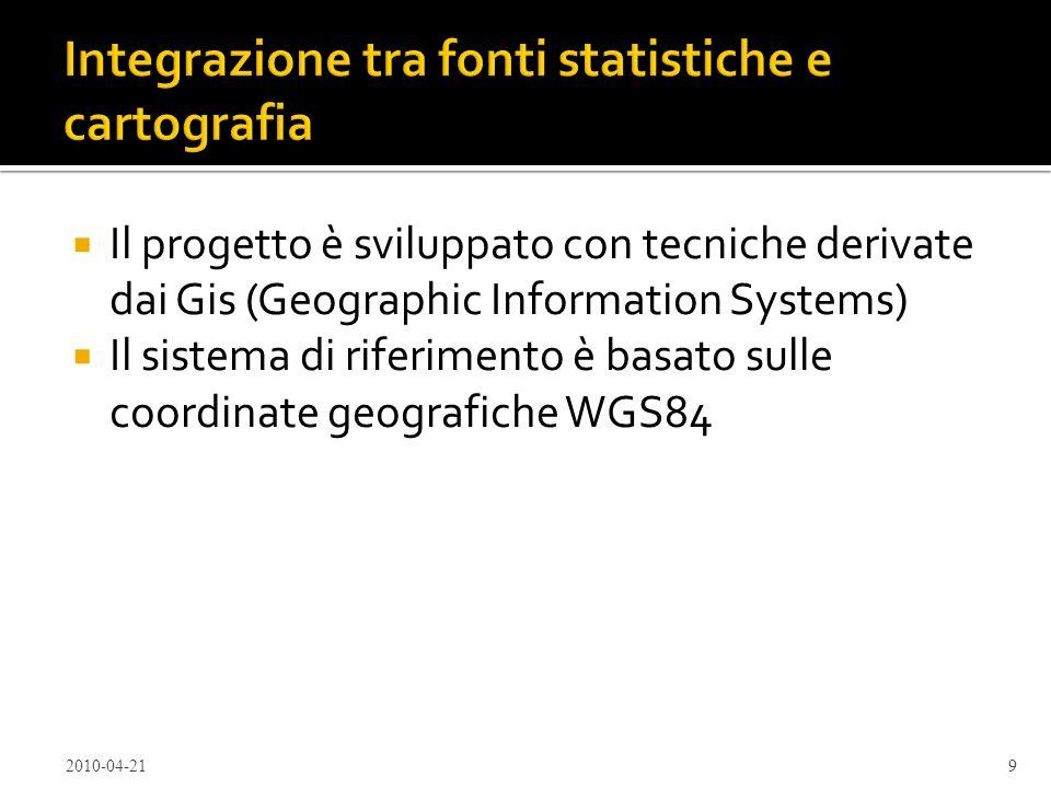 Integrazione tra fonti statistiche e cartografia