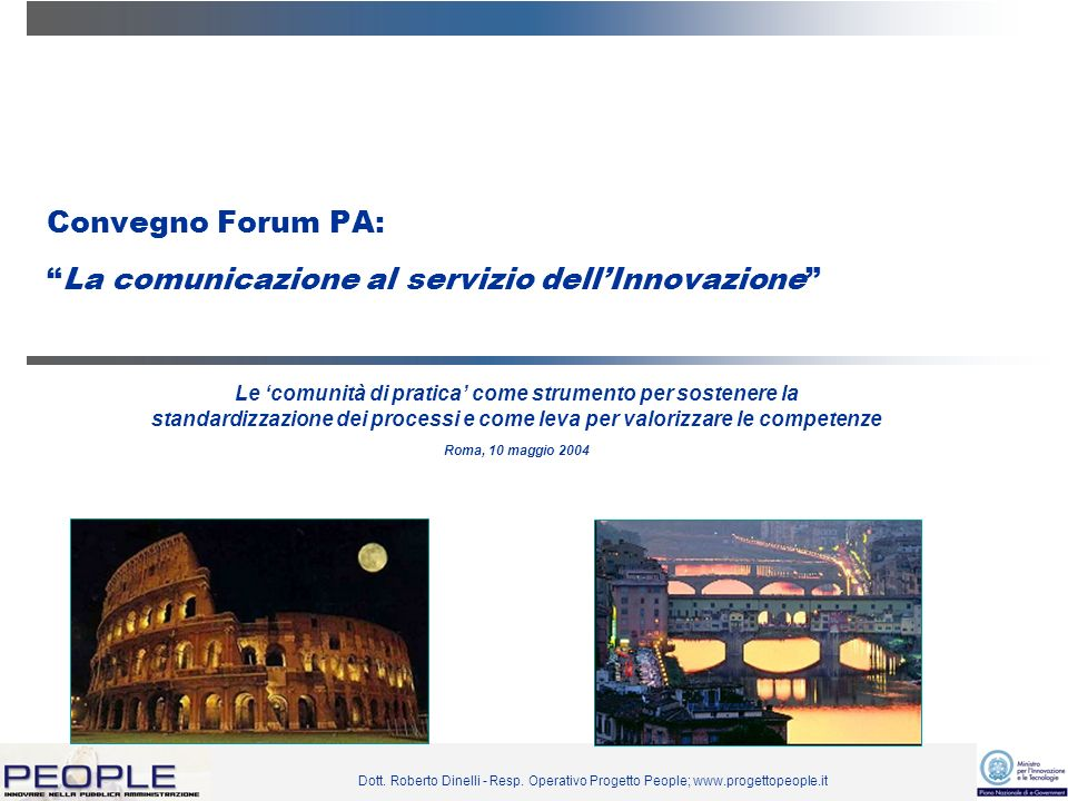 Convegno Forum PA: La comunicazione al servizio dell'Innovazione