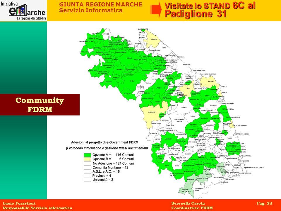 Community FDRM Lucio Forastieri Serenella Carota Pag. 22