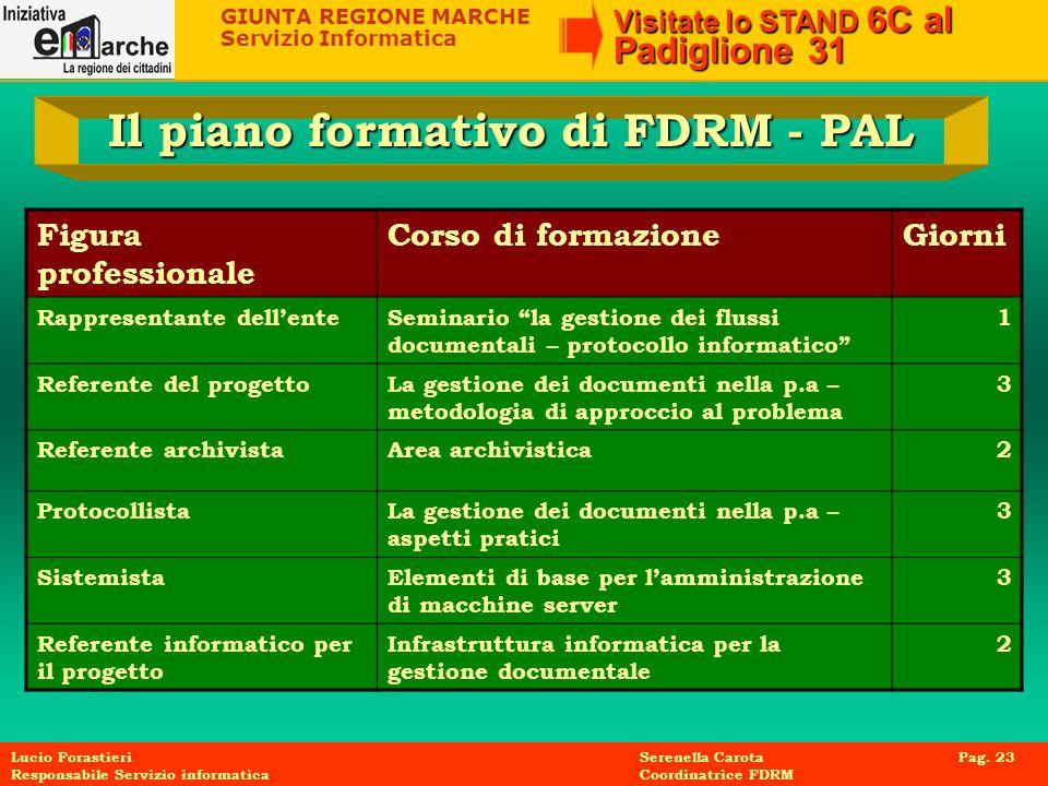 Il piano formativo di FDRM - PAL