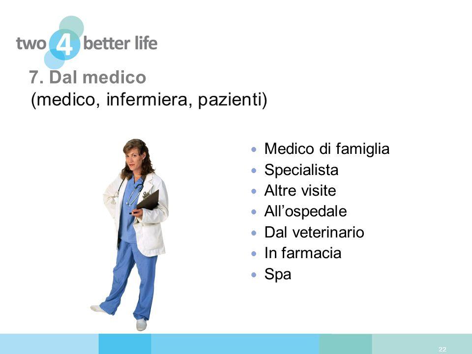 7. Dal medico (medico, infermiera, pazienti)