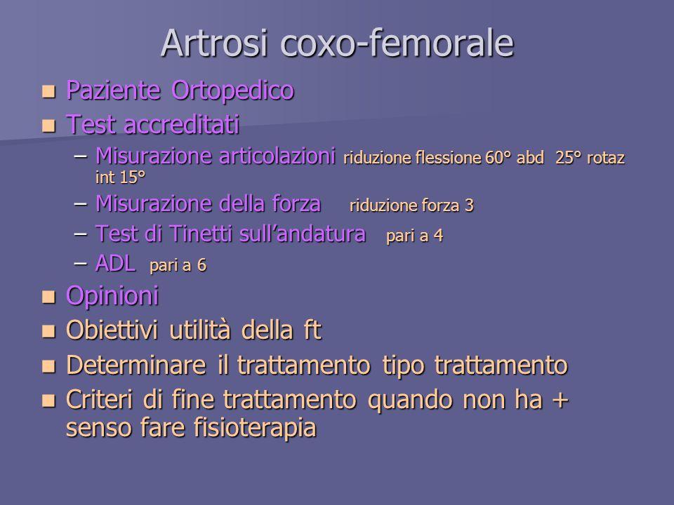 Artrosi coxo-femorale
