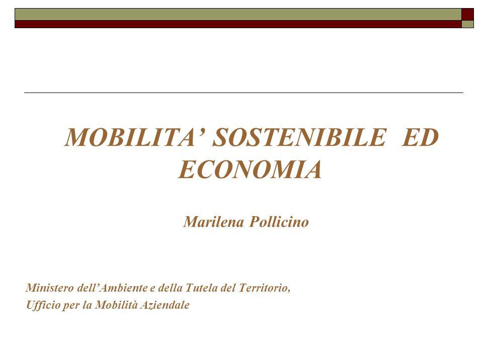 MOBILITA' SOSTENIBILE ED ECONOMIA
