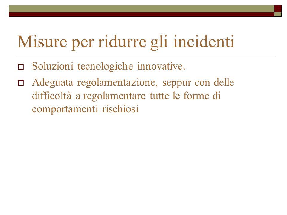 Misure per ridurre gli incidenti