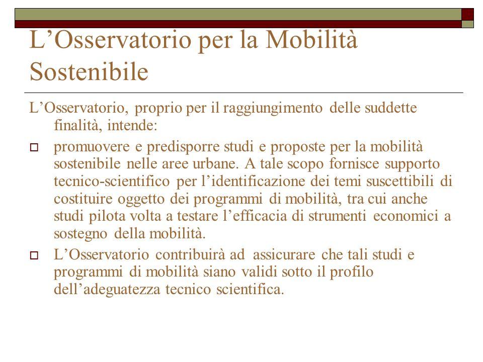 L'Osservatorio per la Mobilità Sostenibile
